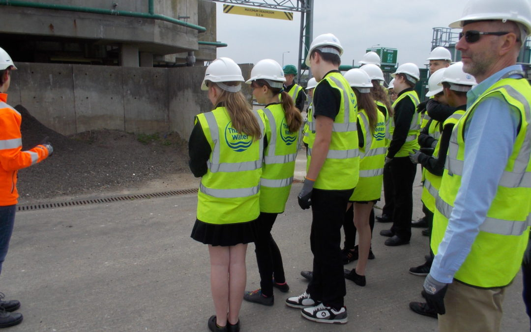 Year 10's visit Thames Water Treatment Works